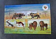 "India - ""WILD ANIMALS ~ 3rd INDIA-AFRICA FORUM SUMMIT"" Special Embossed MS 2015"