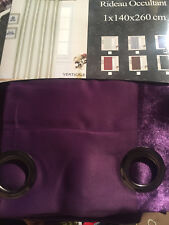 Rideaux occultant violet 140x260cm