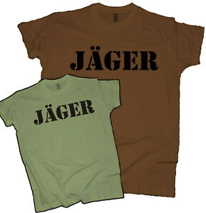 Jäger Herren T-Shirt Hirsch Wald Jagd Geweih Waidmann Jagen Hunter Hobby Männer