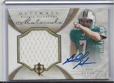 CHAD HENNE 2008 ULTIMATE COLLECTION JUMBO JERSEY ON CARD AUTO RC #D /375