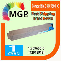 1x Cyan Compatible Toner cartridge for OKI C9600 C9800 C9650 C9850 42918919