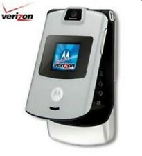 Motorola RAZR V3m - Silver (Verizon) Cellular Basic Flip Phone