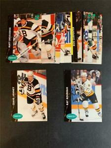 1991/92 Parkhurst French Boston Bruins Team Set 20 Cards