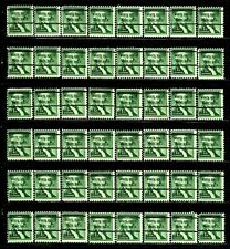 NORTH HOLLYWOOD, CA Bureau Precancel #1031-72 George Washington Stamps Lot of 48