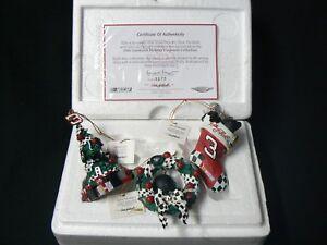 Dale Earnhardt Sr #3 Christmas Ornaments Hamilton Collection includes COA