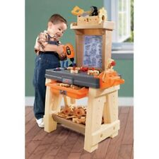 Neutral Color Workshop Tool Bench Pretend Play Toddlers Children Hammer Saw