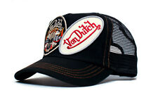 Authentic Von Dutch Originals Black 2 Patch Truckers Cap Hat Snapback