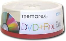 15-pk Memorex Dual Layer DVD+R Double Layer 8X 8.5GB 240 mins New Factory Sealed