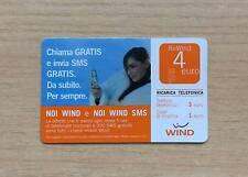 RICARICA TELEFONICA WIND - CHIAMA GRATIS E INVIA SMS GRATIS PER SEMPRE - 4 EURO
