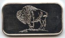 American Bison .999 Silver 1 oz ingot Bar - Washington Mint Art Medal AX943