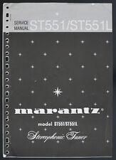 Marantz Model st551/st551l original Stereophonic sintonizador Service-manual top o124