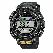 Casio Watch PAG 240-1 Men's Pathfinder  Solar Triple Sensor Black Resin Watch