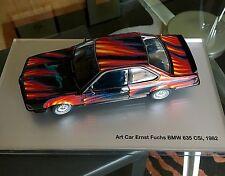 AWESOME 1/18 BMW ART CAR ERNST FUCHS BMW 635 CSI PLEXIGLAS COVER AND BOOKLET