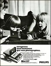 1969 Philips mini K7 tape recorder french language vintage art Print Ad adL41