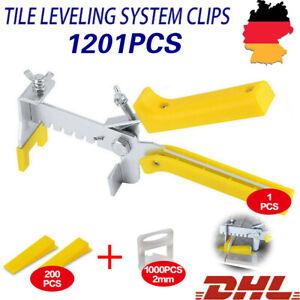 1000 Laschen+200 Keile +Zange Fliesen Nivelliersystem Verlegesystem Verlegehilfe