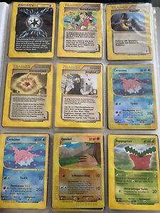 Pokemon Karten Sammlung - 70 x Karten - 2002 / 2003 - Rare + Reverse Holo - Good