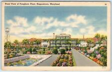 HAGERSTOWN, Maryland  MD   Front View PANGBORN PLANT  1954 Linen   Postcard