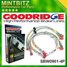 BMW M3 E46 2001 - 2006 Zinc Plated Goodridge Brake Hoses SBW0901-4P