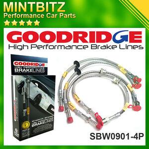 BMW M3 E46 2001 - 2006 Zinc Plated Goodridge Brake Hoses SBW0901-4P