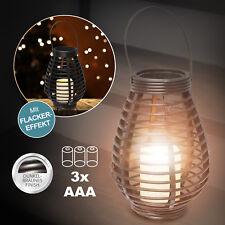 Rattan LED Laterne Garten Wind-Licht✨ Lampe Deko Flacker Kerze warmweiss Leuchte