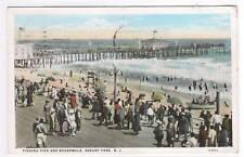 Fishing Pier Boardwalk Asbury New Jersey 1928 postcard