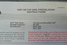 1997 Arctic Cat Set Up & Pre-Delivery Instructions Manual 2255-538 EXT 600 Trip