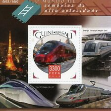 Guinea-Bissau 2015 MNH High-Speed Trains 1v S/S ITALO Maglev Railways Stamps