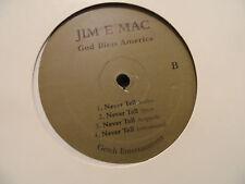 "Jim E Mac - God Bless America / Never Tell 12"" Single Rare RAP mint condition"