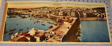 1946 Original Panoramic Colored Photograph General ALGER ALGERIA 22 by 9.5 Inch