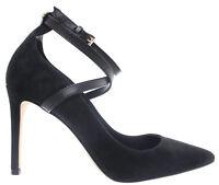 MICHAEL KORS Women's Heels Decollete Shoes Jeannie Pump Suede 40F8JNHS1S Black