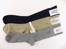 Perry Ellis $34 Brown 3-PAIRS SHOE SZ 7-12 MEN Dress Crew SOCKS SOFT BLUE  C03