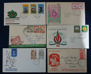 New Zealand Six FDC Covers and Letters #2937