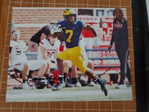 Donovan Edwards signed 8x10 photo Michigan Wolverines 2021 autographed b