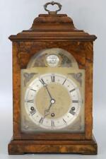 More details for superb elliott musical bracket clock burr walnut dual 1/4 chimes stunner!