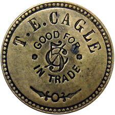 1910 Crainville Illinois Good For Token T E Cagle Unlisted Merchant
