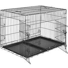 Cage pour chien Box de transport boîte cage parc à chiots canine 106 x 70 x 76cm