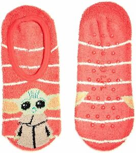 Star Wars Mandalorian Baby Yoda Pink Slipper Socks