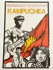 Political OSPAAAL Poster Solidarity.Original 1983 Cuba.Kampuchea Revolution Art