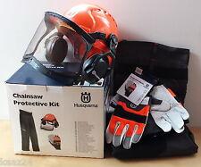 HUSQVARNA Protective Chainsaw Safety Kit - Helmet Gloves Leggings 576430001