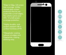 HTC 10 Cubierta Completo Protector de Pantalla de Vidrio Templado Endurecido 3D Blanco