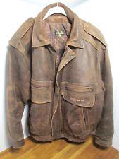 Vintage Authentic Vetements Bombardier Inc. Canadair Leather Pilots Jacket