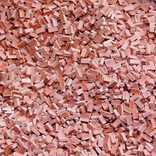 (0,28?/100 Stück) 6000 Ziegelsteine 1:87 H0 dunkelrot, Juweela 28027