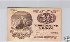 ESTONIE 50 KROONI 1929 PICK 65 a !!!!
