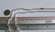 925 sterling Silver 32 In long Heavy 3.5 Belcher Necklace Necklet Chain 30 Grams