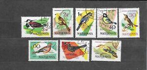 Hungary 1961 BIRDS CNH Set SC # 1426-1433