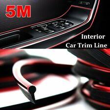 5M Red Point Line Car Interior Decor Edge Gap Door Panel Accessories Molding Usa