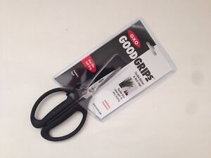 New OXO Good Grips Flexible Kitchen and Herb Snips / Scissors Black