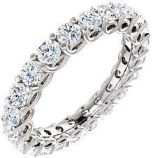 5.4 ct Round Diamond 14k White Gold Band Eternity Ring 18 x 0.30 ct Gia E-F sz 8
