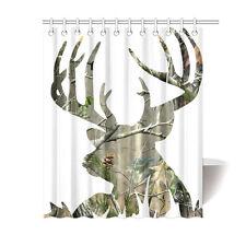 Fashion Custom Bathroom Decor Curtain Camo Deer Picture Shower Curtain 60x72 IN