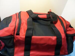 """Large 30x14x14"""" Duffle Bag Black/Red Travel Luggage with wheels & handle New"""